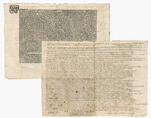Botenbericht des Reichskammergerichts von 1561
