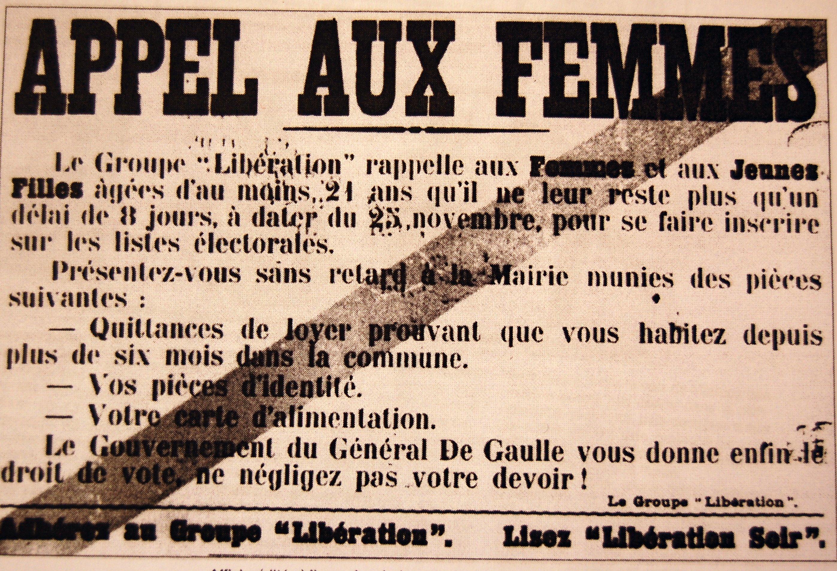 24 mars 1944 le d bat sur le vote des femmes homosexus. Black Bedroom Furniture Sets. Home Design Ideas