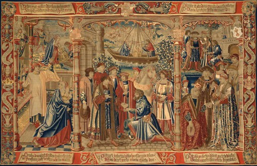 Tercer paño de la serie La Leyenda de Notre Dame du Sablon. Fuente: http://www.musea.brussels/mobile/index.php/en/6-the-legend-of-notre-dame-du-sablon