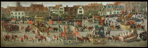 El Ommegang de 1615, de Denis van Alsloot. Licencia: C.C. Fuente: http://en.wikipedia.org/wiki/File:Denis_van_Alsloot_-_The_Ommeganck_in_Brussels_on_31_May_1615._The_Triumph_of_Archduchess_Isabella.jpg#filelinks