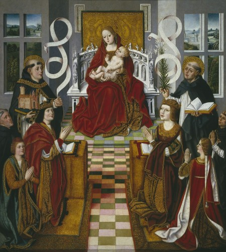 La Virgen de los Reyes Católicos, Maestro de la Virgen de los Reyes Católicos, 1491-1493. Copyright de la imagen ©Museo Nacional del Prado