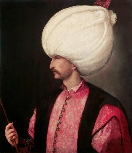 Solimán el Magnífico, atrib. Tiziano, ca. 1530. Fuente: https://commons.wikimedia.org/wiki/File:EmperorSuleiman.jpg. Licencia: Public Domain.