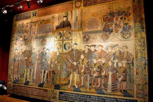 Tapiz Croy (1554). Fuente: https://commons.wikimedia.org/wiki/File:Opona_Croya_Szczecin.jpg. Licencia CC-0.
