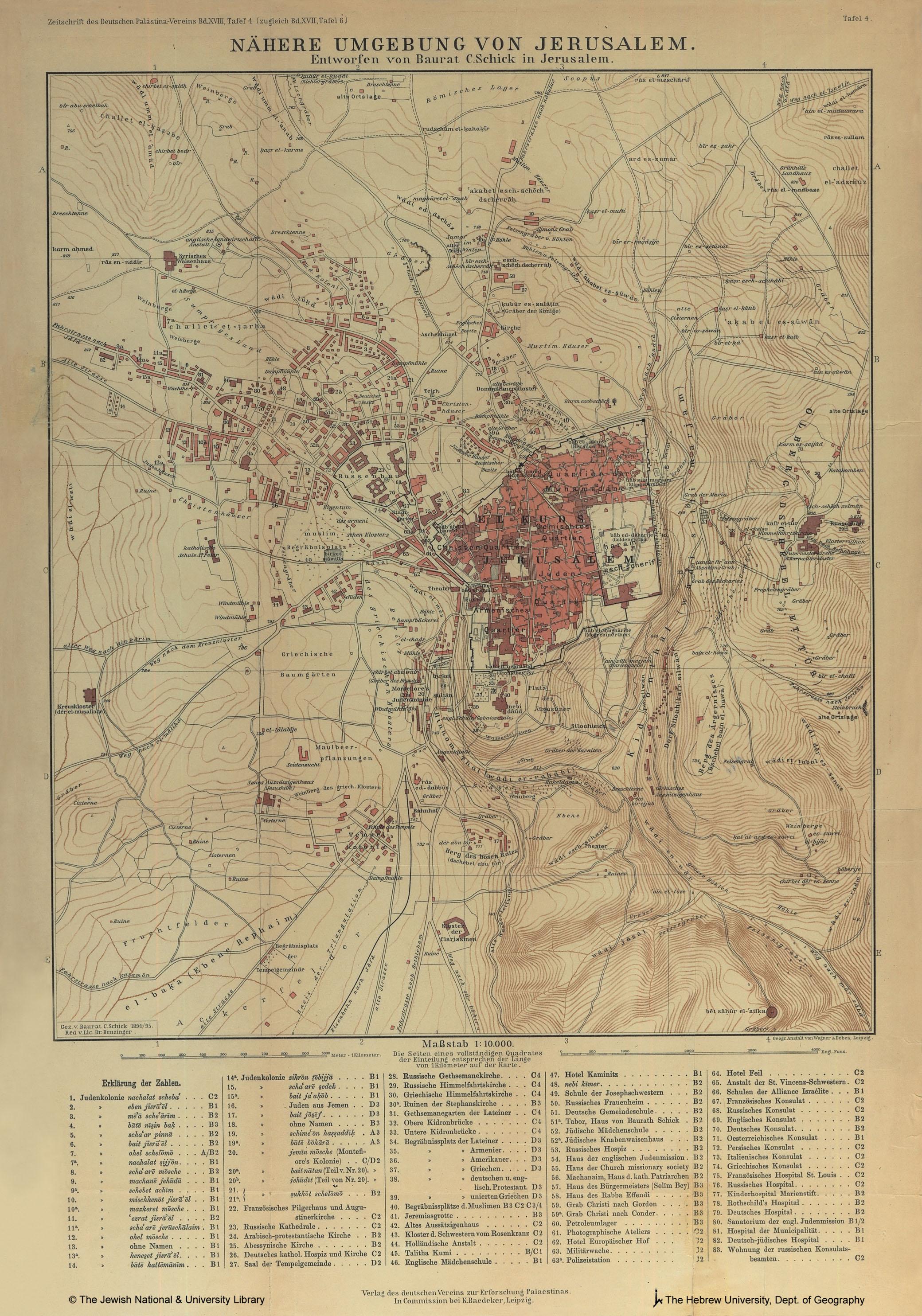 Jerusalem-Conrad Schick-1894-95