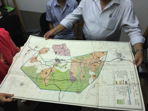 Picture 5. An example of map stored in the archives from the Budeiri Library