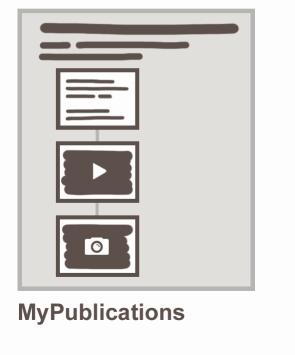 Structure of an ePublication using MyPublications tool