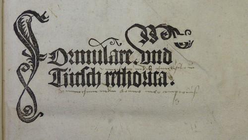 Le formulaire médiéval : les débuts d'une écriture d'administration normalisée