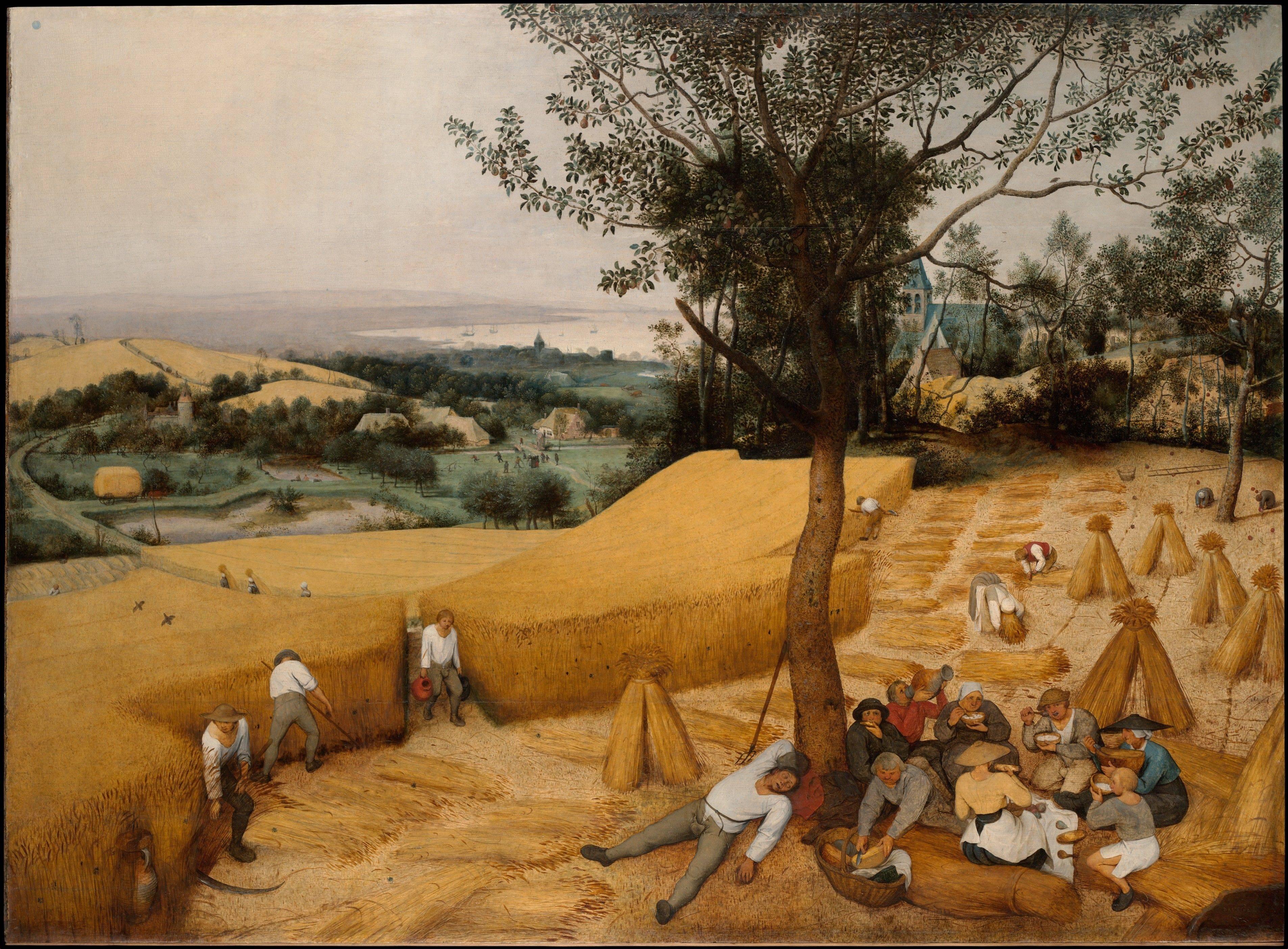 Abb. 4: Pieter Bruegel der Ältere: Die Kornernte (August/September), 1565, Öl auf Holz, 119 x 162 cm, New York, Metropolitan Museum of Art, Foto: Museum.