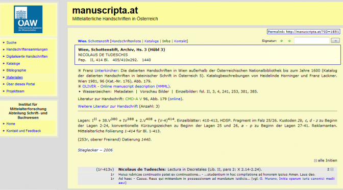 Relaunch von Manuscripta.at