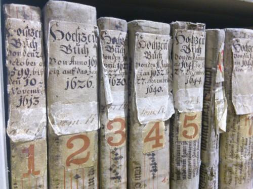 Die ältesten Trauungsmatrikeln der Schottenpfarre