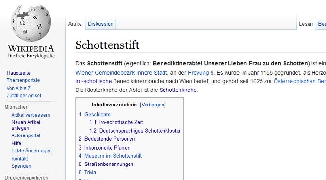 Das Schottenstift auf Wikipedia