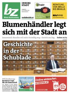 Wiener Bezirkszeitung Innere Stadt 41/2016 (12./13. Oktober 2016).