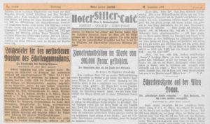 Neues Wiener Journal: Bericht über das Begräbnis Albert Hübls (29. Dezember 1931).