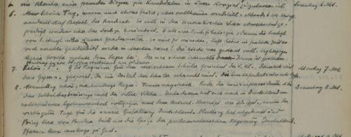 Stiftschronik, 6.–8. Oktober 1918