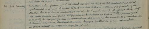 Stiftschronik, 22. Oktober 1918