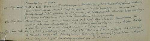 Stiftschronik, 18.–20. November 1918