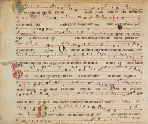 Fragm. liturg. 1: Fragment eines Chorbuchs, Gesänge für Weihnachten (12. Jh.).