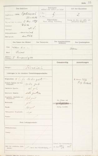 Hauptkatalog, Schuljahr 1917/18, 8. Klasse (28. Juni 1918).