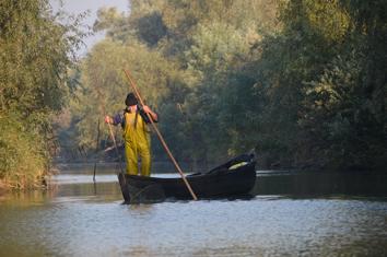 pêcheur sur le Danube