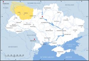 Wolhynien in der heutigen Ukraine