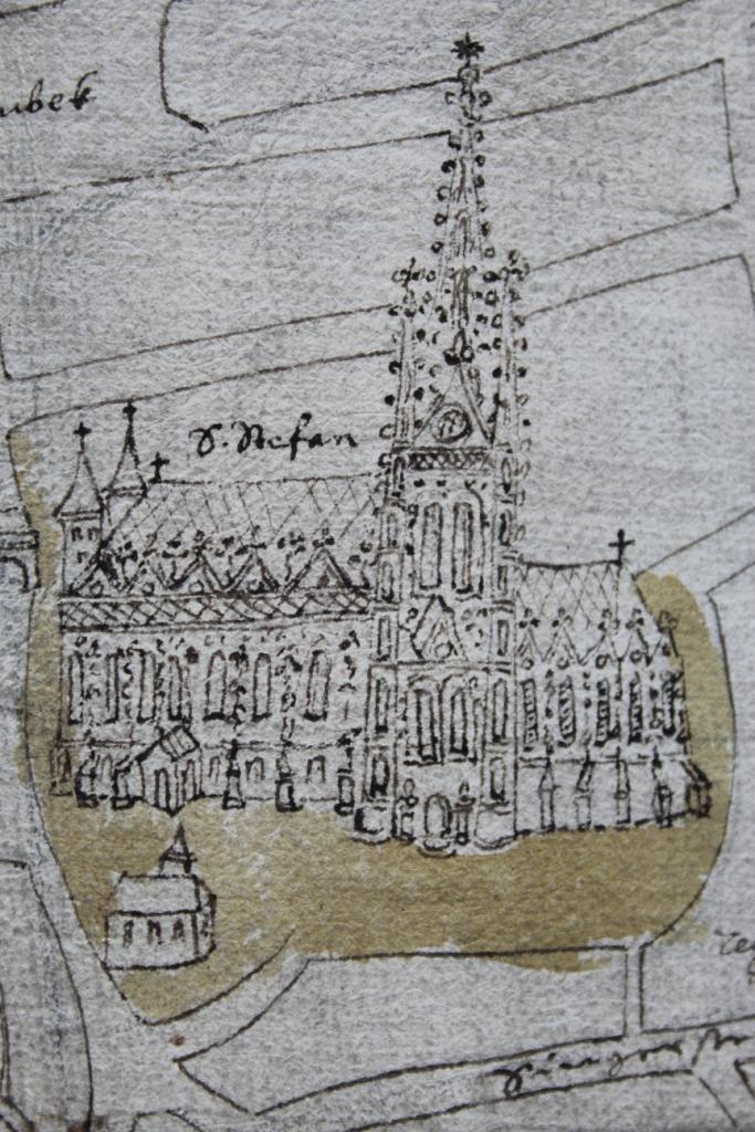 Stephansdom auf dem Schlierbachplan