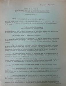 Accord de 1969 sur le repos hebdomadaire 1