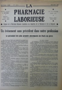 La Pharmacie Laborieuse (CGT), mai-juin 1947