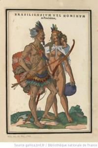 Jost Amman, couple de Brésiliens, XVIe siècle @Gallica