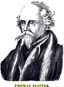Thomas Platter, gravure de l'édition de 1840.