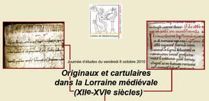 Les cartulaires de Lorraine