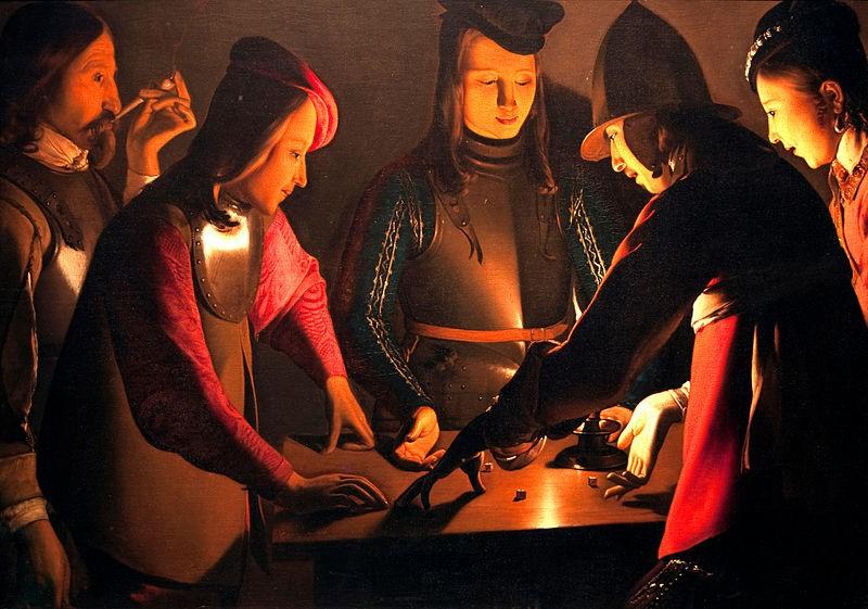 Les Joueurs de dés- Georges de La Tour, 1640