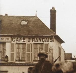 Anonyme, «Cavaliers arabes dans la Somme», vue stéréoscopique positive sur plaque de verre, non daté