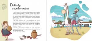 Interior de Las increíbles aventuras de don Quijote y Sancho de César Bona
