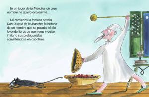 Interior de Mi primer Quijote de Ramón García Domínguez