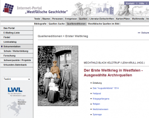 """Screenshot """"Westfälische Geschichte"""""""