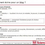 Extrait d'un tutorat de blog de médiation scientifique - Etudiants de Sciences Po Paris, 2012