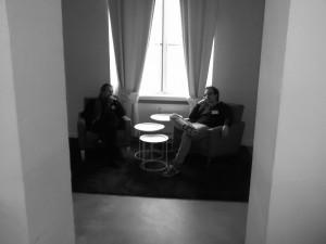 Martin Bartelmus und Eric Baudner im informellen Gespräch.