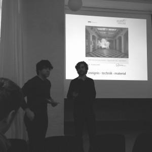 David Magnus und Sergej Rickenbacher während der Schlussdiskussion.