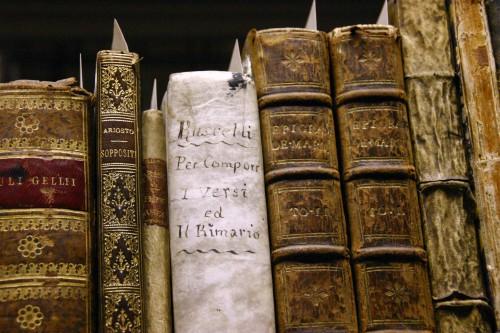 Livres sur les étagères de la réserve de la BU Lettres et Sciences Humaines (Aix). Photo Jean-Pierre Vallorani