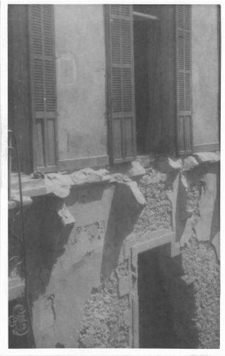 La bibliothèque de sciences après le bombardement du 27 mai 1944. Façade côté Canebière. Archives du SCD (Aix-Marseille Université)