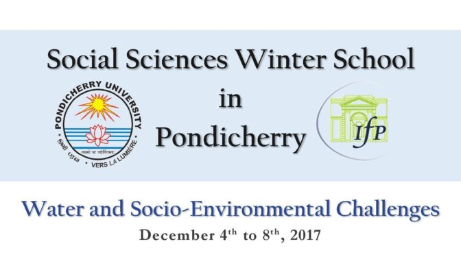 Social Sciences Winter School in Pondicherry 2017- Call for Participants