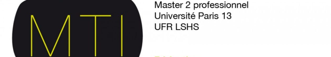 Masters MTI Métiers du texte et de l'image & ALC recherche