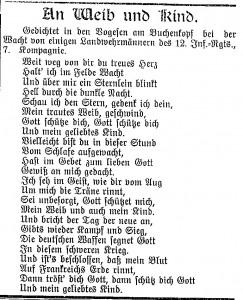 NA_1914_No_281_S_3_Gedicht_An_Weib_und_Kind