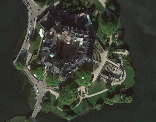 Schweriner Schloss mit Bastionen - Erstellt mit Google Earth