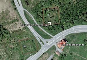 Alexanderschanze(n). Quelle: Google Earth.