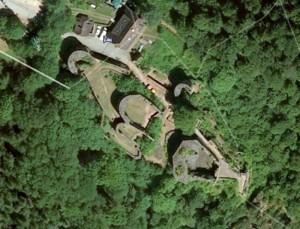 Hohenschramberg. Quelle: Google Earth.