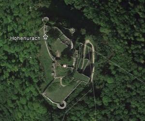 Hohenurach. Quelle: Google Earth.
