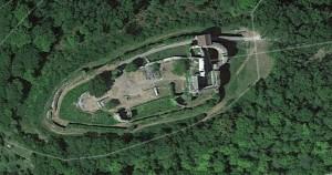 Küssaburg. Quelle: Google Earth.