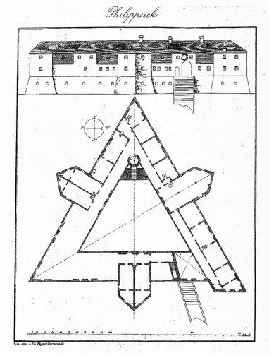 Schloss Philippseck. Anonym 1851.