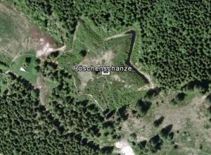 Röschenschanze. Quelle: Google Earth.